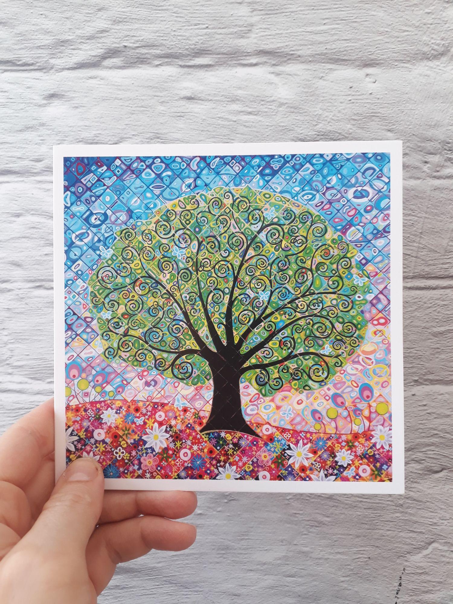 Blue Butterflies Greeting Card