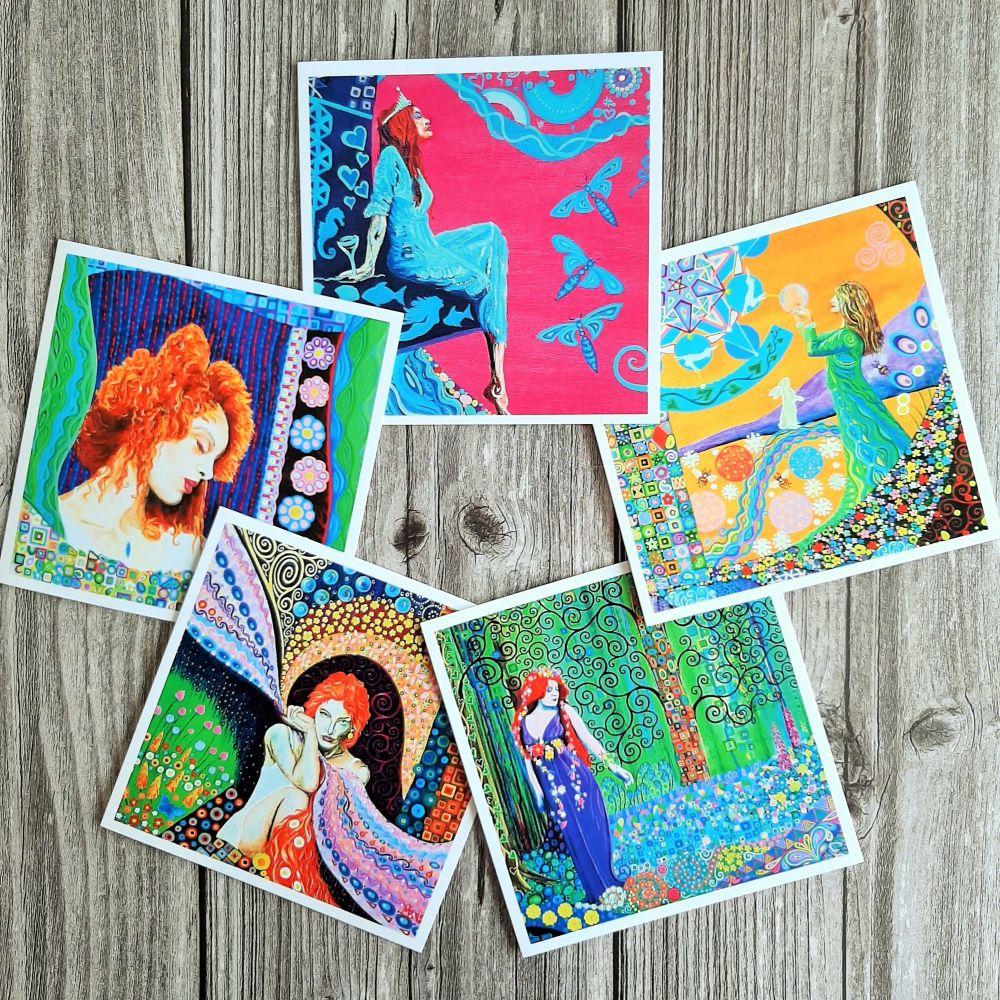 Goddess art card pack