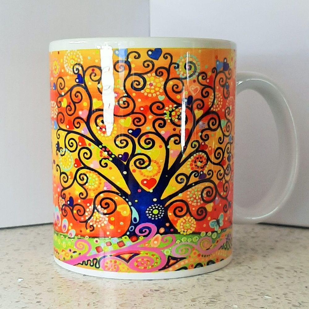 Fire Sky Tree of Life Mug