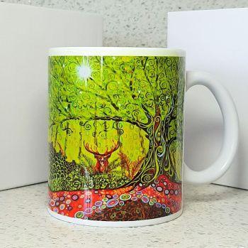 Stag & Tree of Life Mug