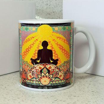 Om Meditate and Mandala Mug