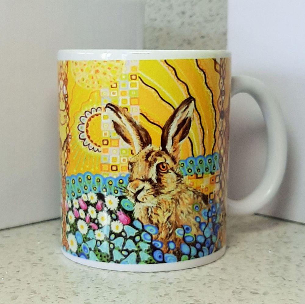Art Nouveau Hare Mug