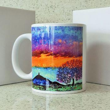 Glastonbury Tor and Tree of Life Mug