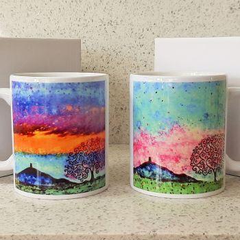 Glastonbury Tor and Tree of Life Mugs