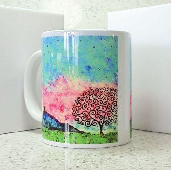 Glastonbury Tor Tree of Life Mug