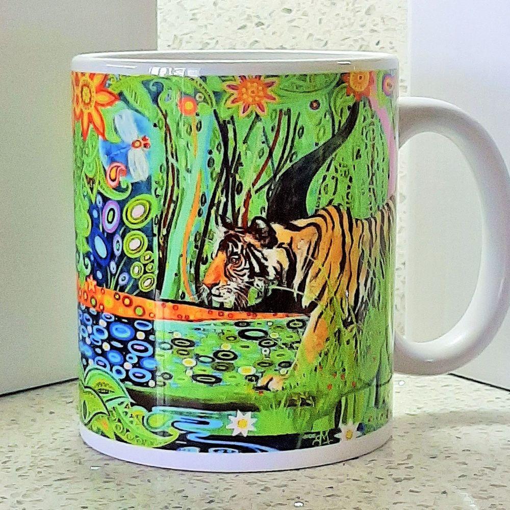 Art Nouveau Tiger Mug
