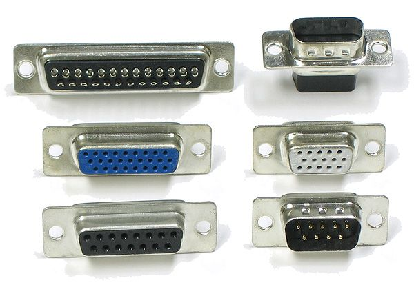 D Plug connectors