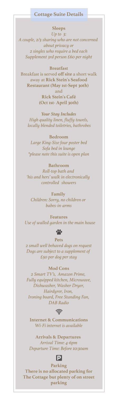 Cottage Suite Details