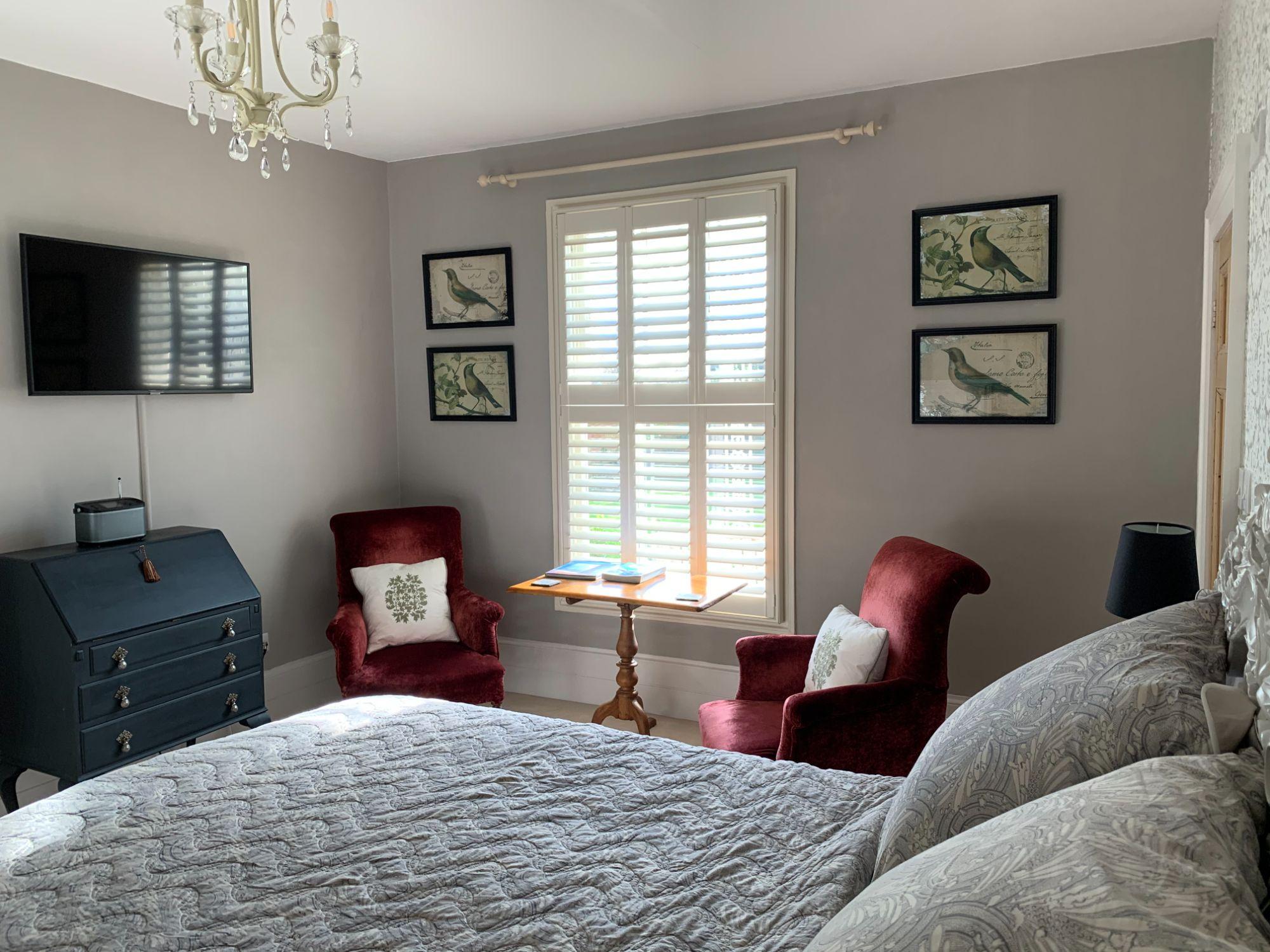 Veranda window across bed