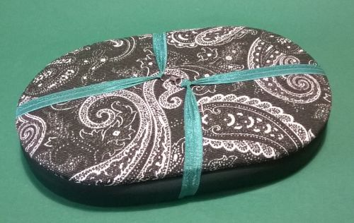 Mini Traveller 165 Dark Green Paisley / Mocha Beading Tray + Lid