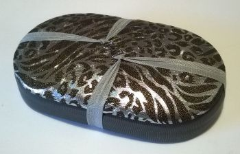 Mini Traveller  198 Holograph Leopard  / Silver Beading Tray + Lid
