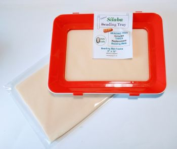 PLASTIC TRAY - BEADING MAT HOLDER  with 3 Replacement MATS