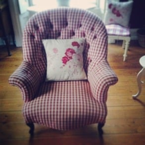 red check chair