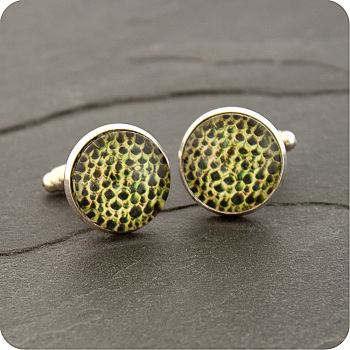 LILY STEM SECTION VIEWED BY POLARISED LIGHT MICROSCOPY BOTANY CUFFLINKS (CL7)