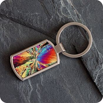 CITRIC ACID BY POLARISED LIGHT MICROSCOPY KEYRING (K4)