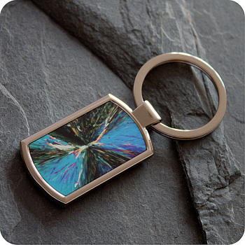 CITRIC ACID BY POLARISED LIGHT MICROSCOPY KEYRING (K5)