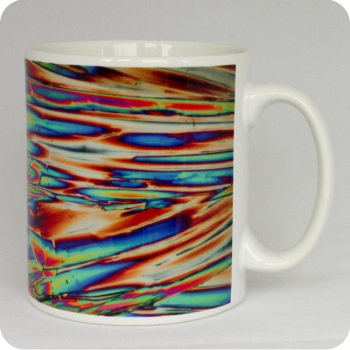 Imidazole chemical crystals polarised light mug (M26)