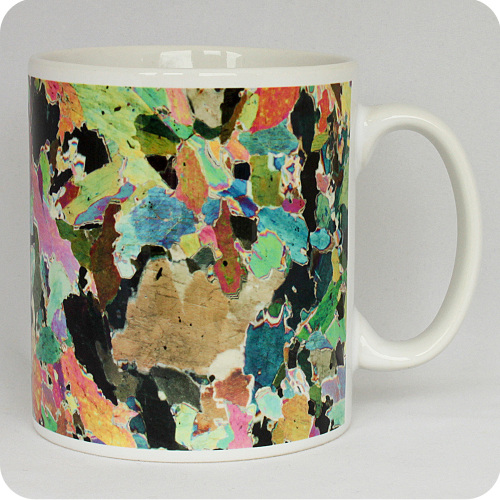 Hornblendite from Avernish, Scotland rock thin section Mug (M41)