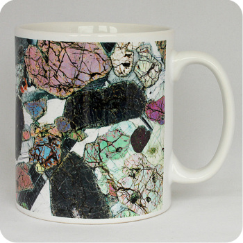 Peridotite from Ardnamurchan, Scotland rock thin section Mug (M42)