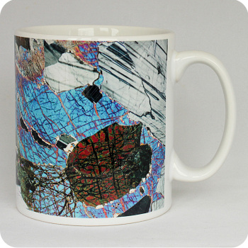 Gabbro from Huntly, Scotland rock thin section Mug (M43)