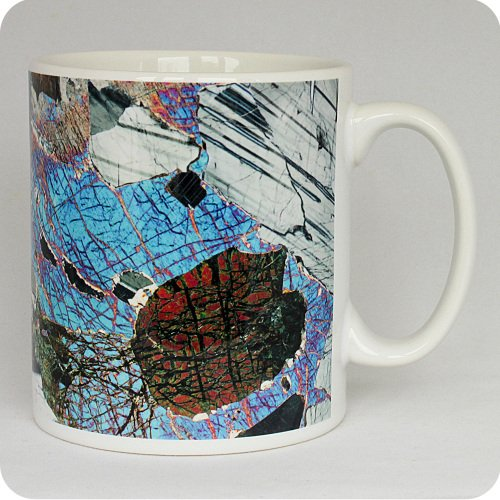 Gabbro from Huntly, Scotland rock thin section Mug (M43)