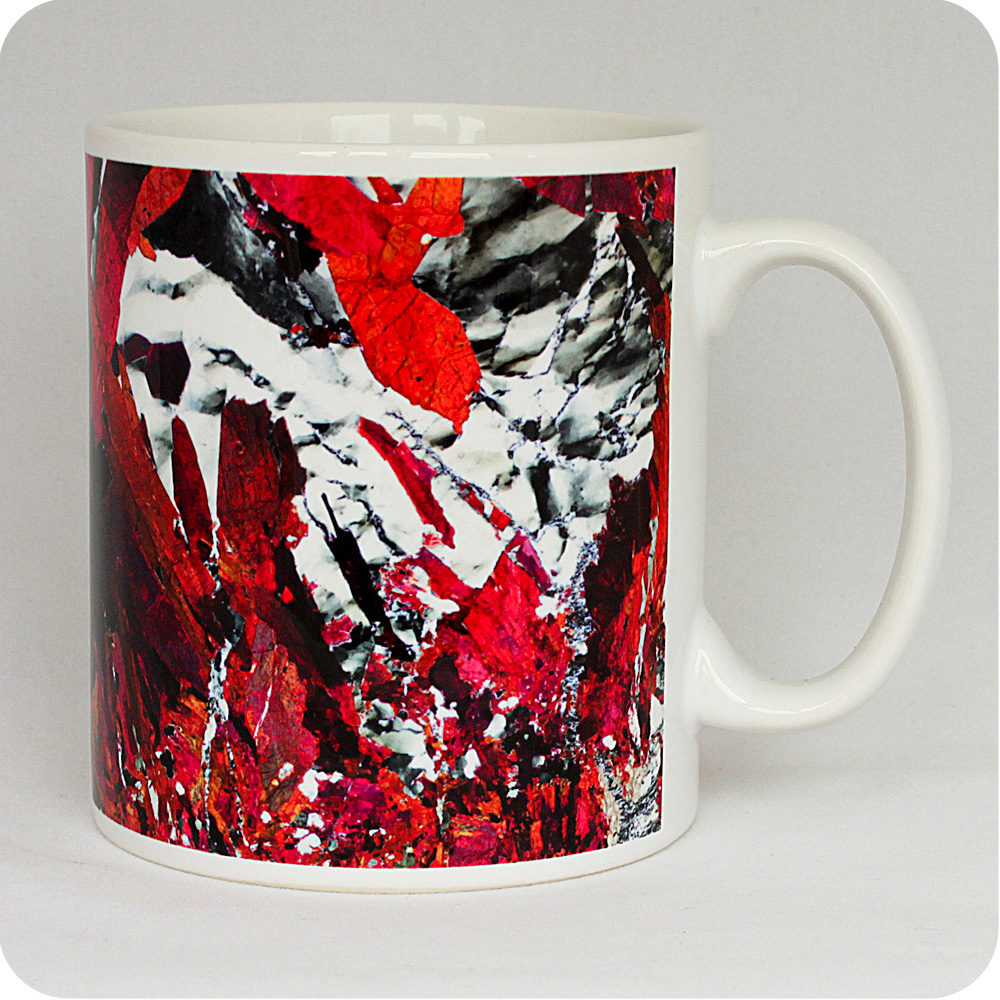 Piemontite from St Marcel, Italy rock thin section Mug (M44)