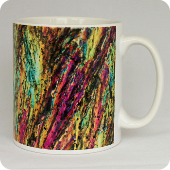 Barytes from Castleton, England rock thin section Mug (M45)