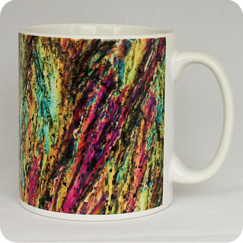 Barytes from Castleton, England rock thin section Mug (M45)