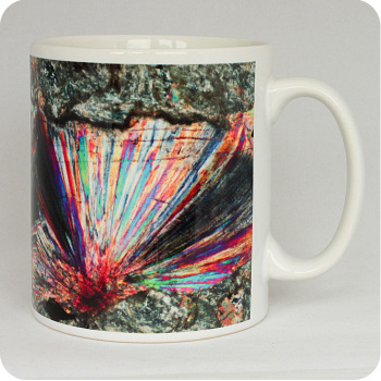 Withamite from Glen Coe, Scotland rock thin section Mug (M47)