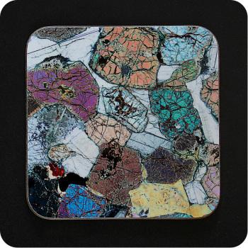Peridotite from Ardnamurchan, Scotland rock thin section Coaster (C42)