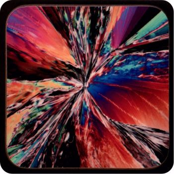 CITRIC ACID CRYSTALS POLARISED MICROSCOPY COASTER (C40)