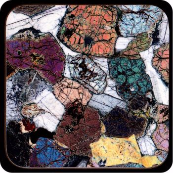 Peridotite from Ardnamurchan, Scotland rock thin section Coaster (C42)