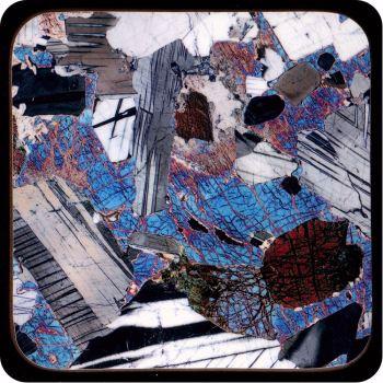 Gabbro from Huntly, Scotland rock thin section Coaster (C43)