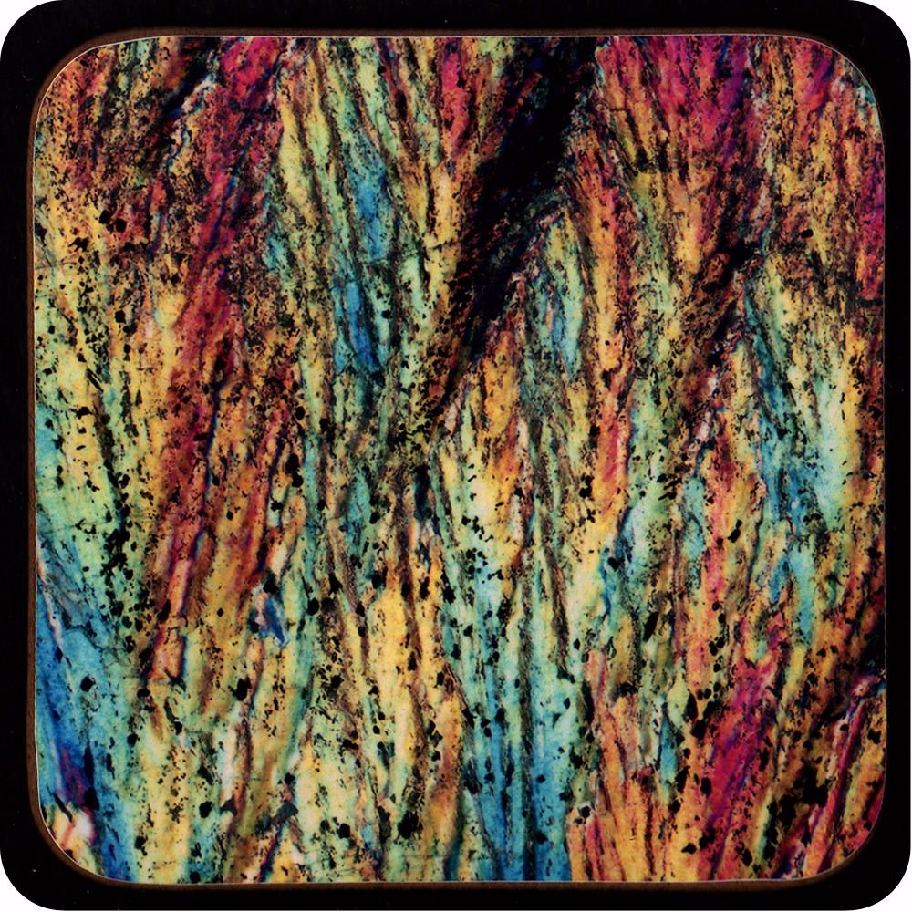 <!-- 00195 -->Barytes from Castleton, England rock thin section Coaster (C4