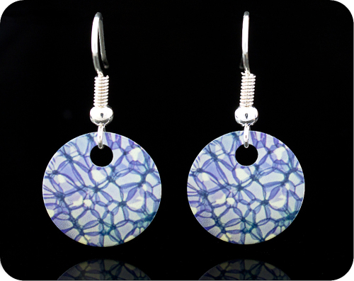 <!-- 00042 -->SCIENCE EARRINGS - ROSE STEM SECTION BY BRIGHTFIELD MICROSCOP