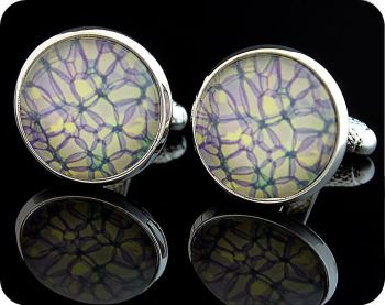 SCIENCE CUFFLINKS - ROSE STEM SECTION (BRIGHTFIELD MICROSCOPY) (CL1)