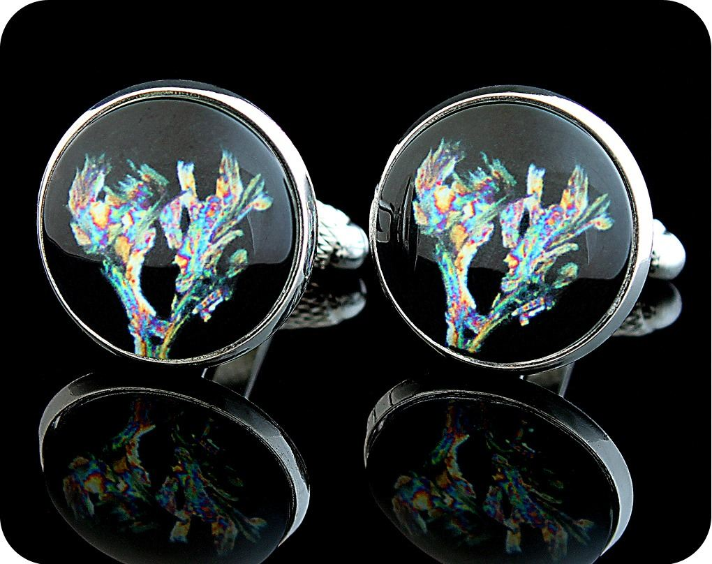 <!-- 00061 -->CHEMISTRY CUFFLINKS - GLYCINE SDS METHANOL, POLARISED LIGHT M