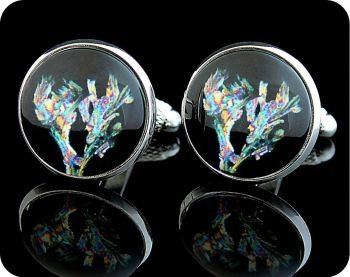 CHEMISTRY CUFFLINKS - GLYCINE SDS METHANOL, POLARISED LIGHT MICROSCOPY (CL17)