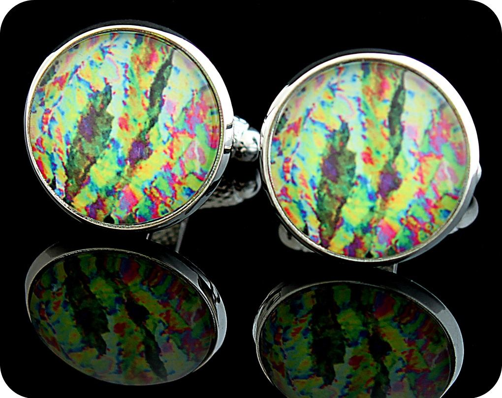 <!-- 00011 -->VITAMIN C CUFFLINKS - ASCORBIC ACID (VITAMIN C) CRYSTALS VIEW
