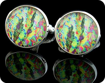 VITAMIN C CUFFLINKS - ASCORBIC ACID (VITAMIN C) CRYSTALS VIEWED BY POLARISED LIGHT MICROSCOPY (CL31)