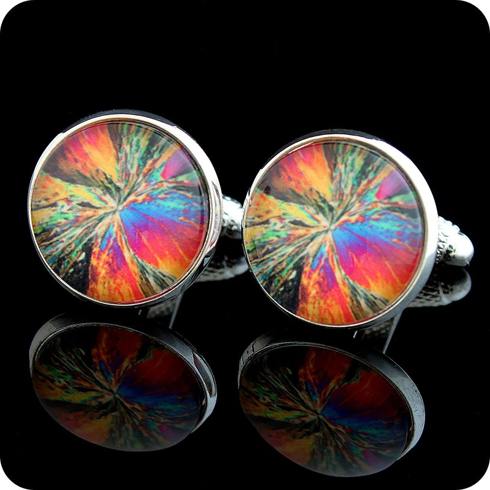 Science cufflinks - geology, chemistry and biology cuff links