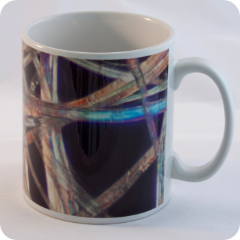 WHATMAN LENS CLEANING TISSUE (POLARISED MICROSCOPE IMAGE) MUG (M19)