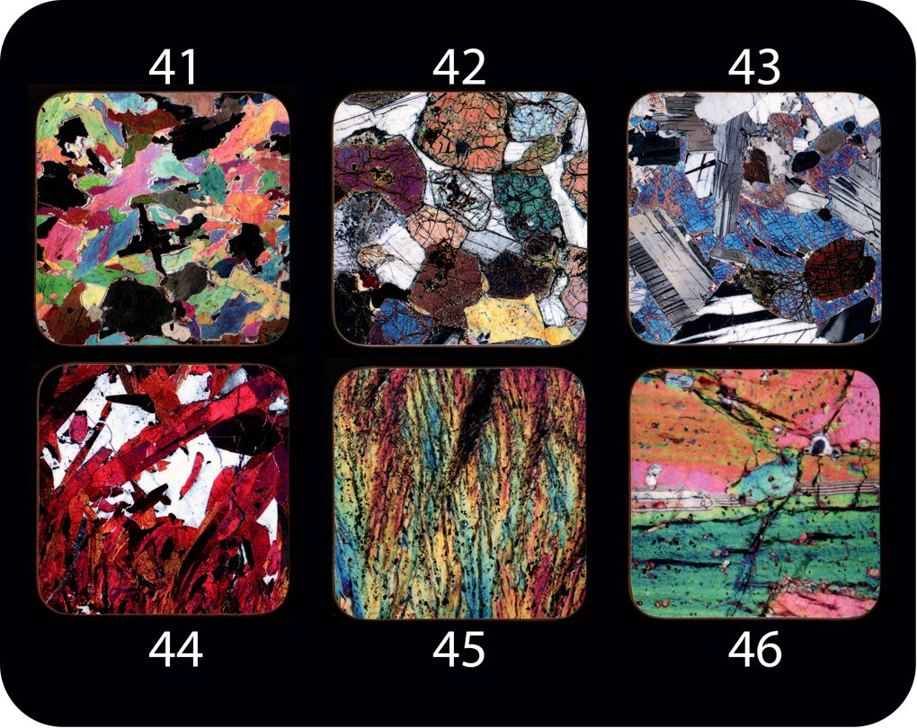 <!-- 00002 --> Your choice of Six Different Geology Coasters - great gift f