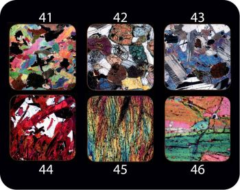 Your choice of Six Different Geology Coasters - interesting geology gift