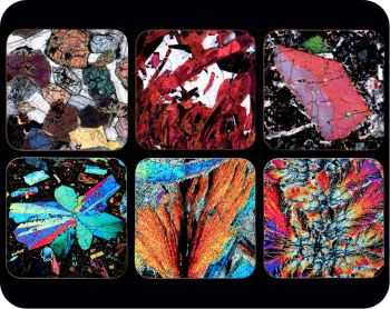 6 European Geology Rock Thin Section Coasters - great gift for a geologist (Co-Euro6)