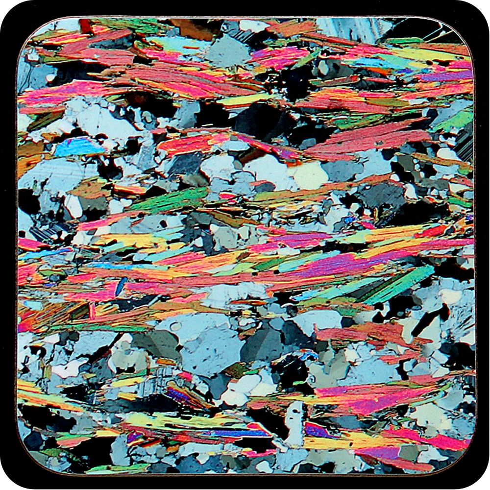 <!-- 00045 -->Mica Schist from Loch Eilt, Scotland rock thin section Coaste
