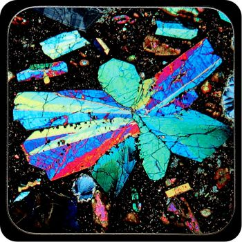 Limbergite from Limberg, Germany rock thin section Coaster (C62)