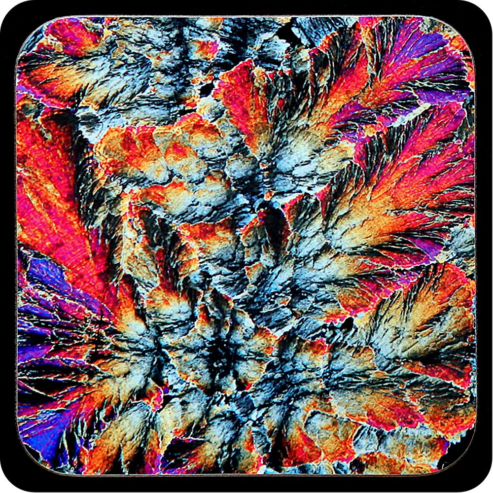 <!-- 00085 -->Barytes from Castleton, England rock thin section Coaster (C6