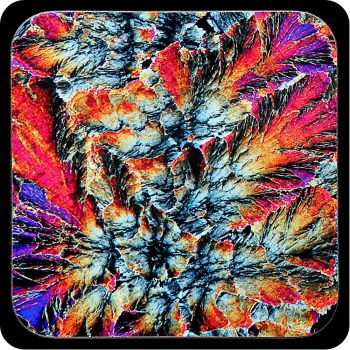 Barytes from Castleton, England rock thin section Coaster (C64)