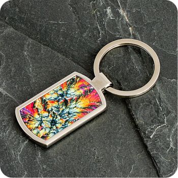 Barytes from Castleton, England rock thin section Keyring (K64)